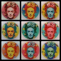 Frida - Alex Hamilton Stencil Pop Artist Iconography In Art, Frida And Diego, Frida Art, Mexican Artists, Stencil Art, Elementary Art, Sculpture Art, Folk Art, Art Projects