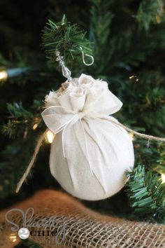 diy christmas ornaments,... would be cute with burlap or a cute xmas print fabric