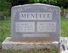 Robert and Hester Menefee - My Great Grandparents.