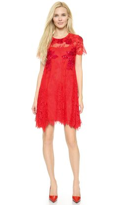 Notte by Marchesa Lace Trapeze Dress