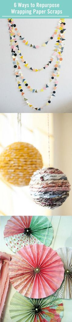 Every holiday and birthday brings with it a new wave of beautiful wrapping paper that ultimately ends up in the trash. But now there's an alternative! This DIY round-up gives you six ways to repurpose your wrapping paper, and as if recycling isn't rewarding enough, you get a cute craft out of it!