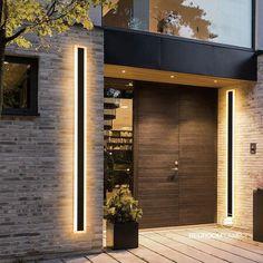 Bedside Wall Lights, Led Wall Lights, Wall Lamps, Modern Entrance Door, Modern Garage Doors, Modern Exterior Doors, Modern Front Door, Exterior Cladding, Entrance Decor