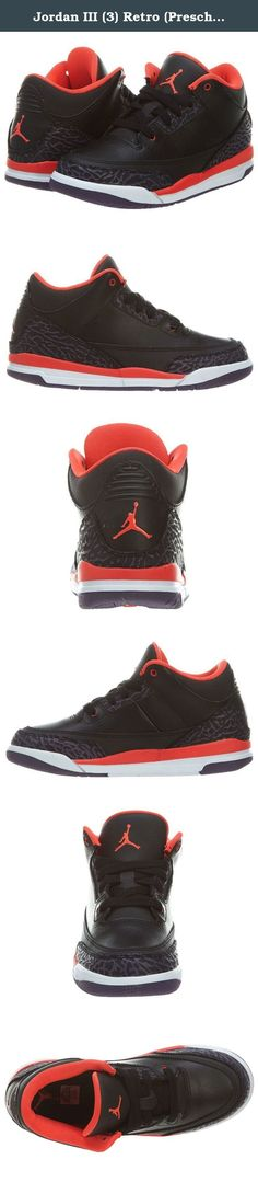 outlet store 914ac 2ce7c Jordan III (3) Retro (Preschool) - Black   Bright Crimson-Canyon