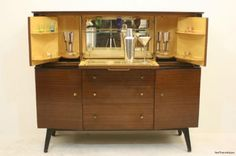 1940 Home Bar Cabinet | ... 1950's Mahogany Drinks Cabinet / Bar / Sideboard / Beautility