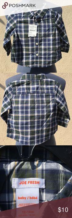 Little boys buttoned down shirt Boys long sleeved shirt Joe Fresh Shirts & Tops Button Down Shirts