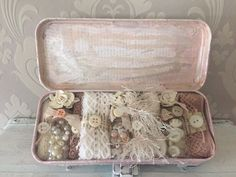 Shabby chic altered pencil case tin.