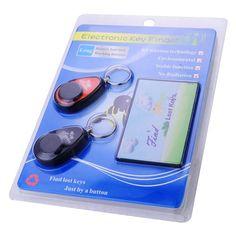 Anti-lost Wireless Card Key Finder Keychain Locators 1 Transmitter 2 Receiver @ £14.51