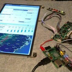 Raspberry Pi: Wall Mounted Calendar and Notification Center - Arduino - Computer Diy, Computer Projects, Arduino Projects, Diy Tech, Cool Tech, Diy Electronics, Electronics Projects, Cool Raspberry Pi Projects, Raspberry Pi Computer