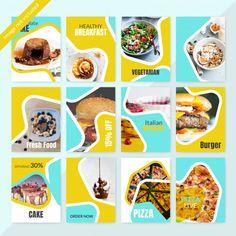 Food Instagram Social Media Post Template for Restaurant.