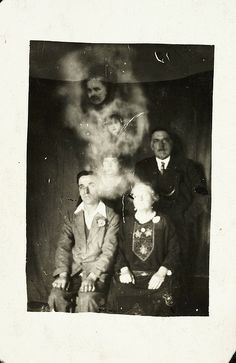 Family group with two spirits, c. 1920, William Hope, National Media Museum Collection | Spirit Photography