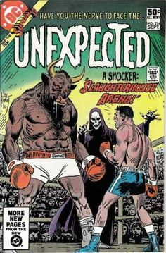 A cover gallery for the comic book Tales of the Unexpected Scary Comics, Ec Comics, Horror Comics, Dc Comic Books, Comic Book Covers, Comic Art, Tales Of The Unexpected, Silver Age Comics, Splash Page