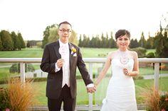 Wedding at Marine Drive Golf Club l Vancouver, BC Vancouver British Columbia, Wedding Couples, Wedding Ideas, Real Weddings, Whimsical, Celebrities, Pink, Golf, Magazine