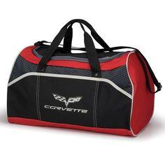 7007b6a3ff66 C6 Corvette Black and Red Bag