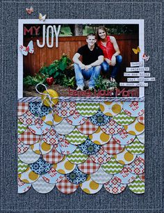From Diane Payne at Write Click Scrapbook. Love the circles.