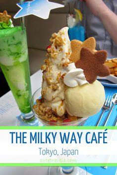 Milky Way Café, Cosmic Themed Café - Ikebukuro, Tokyo, Japan. A real milky way