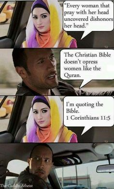 It's not only islam, it's in the bible too! Fuckin' misogyny!