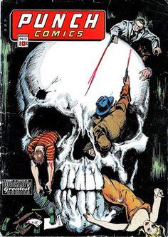 Punch Comics #12 (Jan '45) cover by Gus Ricca. #comics