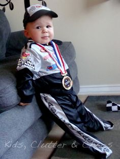 kids clutter and chaos halloween 2012 toddler race car driver costume review