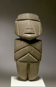 AXE-FIGURE, 500-200 B.C.,  Mezcala. Denver Art Museum, pre-Columbian collection.
