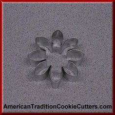 This is a 3 inch Daisy. It is 1 inch high. All our cookie cutters are made in the USA of tinplate steel. All our cookie cutters are $0.90 each.