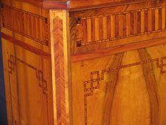copf stílusú antik bútor, szép intarzia