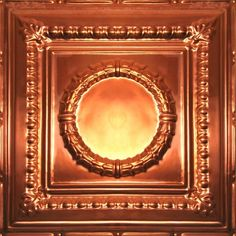 Solid Copper Ceiling Tile - 2ft x 2ft  -  200+ Patterns Available in Solid Copper and Solid Aged Copper -  We can make any of our real metal products in solid copper or solid aged copper and we have the capability to create custom designs just for you. Solid Copper color identification  code is  #45, and Solid Aged Copper identification  code is  #46. Go to the main metal product page and see how many patterns are available to you. Click image for more info....