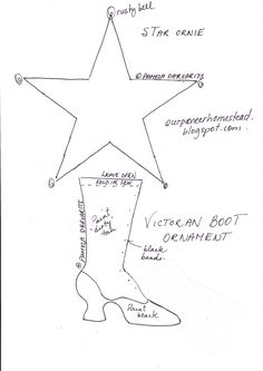 Our Pioneer Homestead: Victorian Boot Ornie #8
