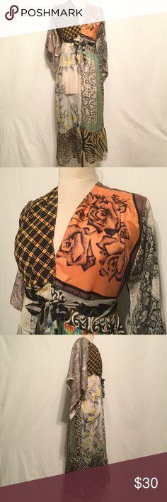 Vintage elegant lounging outfit of silk scarves 2630d0913c5