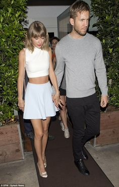 Date night! Taylor Swift and Calvin Harris  emerged after a romantic dinner at Giorgio Baldi in Santa Monica, California on Tuesday
