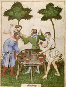 le vin au moyen âge