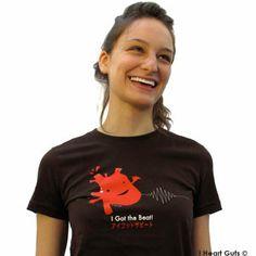 I Got the Beat - Brown - Heart T-shirt *BIG* | I Heart Guts