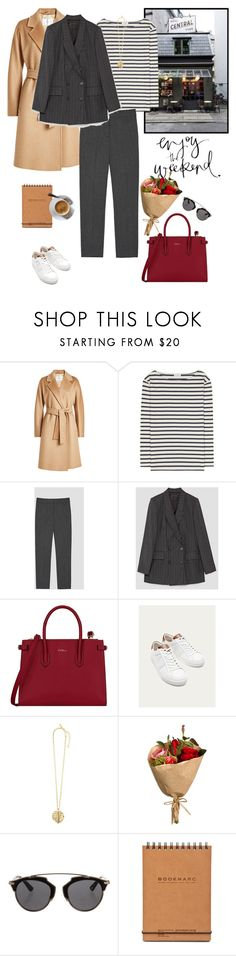 """Enjoy the weekend"" by nadi ❤ liked on Polyvore featuring MaxMara, Yves Saint Laurent, Furla, Massimo Dutti, Oscar de la Renta, Christian Dior, blazer, sneakers, Suits and polyvoreeditorial"