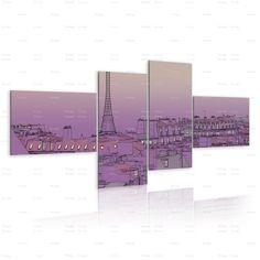 Quadro Parigi color porpora