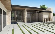 Cool Driveway Idea - Bowery Design Group - modern - exterior - los angeles - by Bowery Design Group
