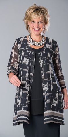 Kasbah black/mink voile scoop neck jacket at Box 2