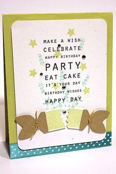 Birthday Popper Card by Heather Nichols for Papertrey Ink (November 2012)