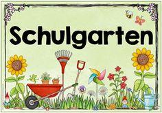 """Themenplakat """"Schulgarten""""   Claudi hat sich ein verspieltes Plakat  für den Schulgarten gewünscht. Ich würde mich freuen, wenn es euch ge..."""