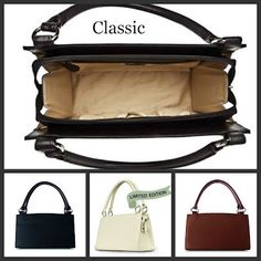 Inside of the Miche Classic Base Bag. Comes in Black, Brown and Limited Edition White. #uniquestylishpurses.blogspot.com