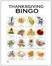 Free Thanksgiving Bingo Printable www.247moms.com #247moms