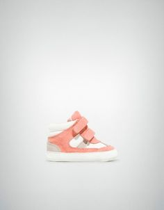 zara baby / velour high-top sneaker