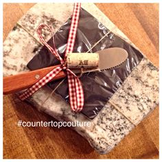 Rustic Chic Up-cycled granite Cheese Board by CountertopCouture