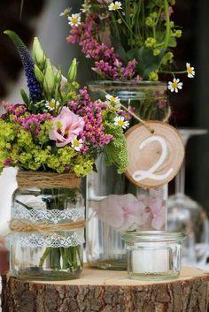 Tischdekoration Vintage Hochzeit auf Land Gut Höhne #weddinginspiration #hochzeit #Floristik