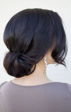 wedding hair for wedding hair hair bridesmaid hair styles long hair down style wedding hair hair bridesmaid hair ideas bridesmaids wedding hair dos Wedding Hairstyles For Long Hair, Wedding Hair And Makeup, Bride Hairstyles, Hair Makeup, Hair Wedding, Hairstyles 2018, Black Bun Hairstyles, Evening Hairstyles, Hairstyle Wedding