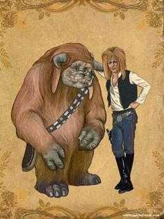 Labrynth Star Wars mashup  Sweet! I think the tiny worm at the beginning would be Yoda and Hoggle would be Lando since he betrays Sarah. Lol