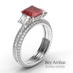 colored stone- engagement rings-with-ruby-center-and-side- blaze-diamonds-from-bez-ambar-los-angeles