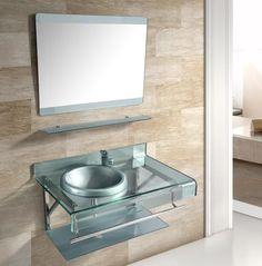 48 best glass sink vanity images glass bathroom bathrooms glass rh pinterest com