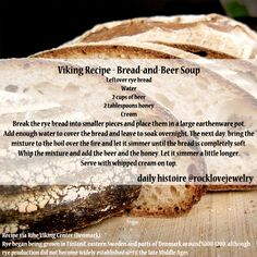 recipes game of thrones Daily Histoire — Savory Viking Age Recipes (gearing up for cold. Daily Histoire — Savory Viking Age Recipes (gearing up for cold. Medieval Recipes, Ancient Recipes, Vikings, Beer Soup, Viking Food, Nordic Recipe, Soup Recipes, Cooking Recipes, Norwegian Food