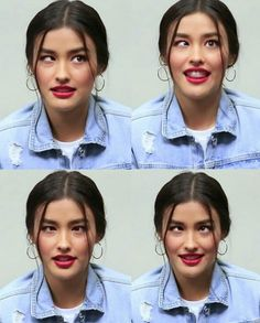 Silly faces yet so beautiful Lisa Soberano, Angel Locsin, Filipina Actress, Silly Faces, Before After Photo, Celebs, Celebrities, Filipino, Pretty Face
