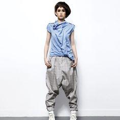 Grey Drop Crotch Pants @Noveltylane.com.com Drop Crotch Pants, Parachute Pants, Minerals, Harem Pants, Fashion Outfits, Boutique, My Style, Antiques, Shopping