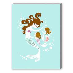 Found it at Wayfair - Mermaid Daughters Graphic Art http://www.wayfair.com/daily-sales/p/Under-the-Sea-Teen-Bedroom-Mermaid-Daughters-Graphic-Art~EFW2602~E21204.html?refid=SBP.rBAZEVWPFHE-4USmYC4ZAh8zLqTzUUUEtvhVojontNA